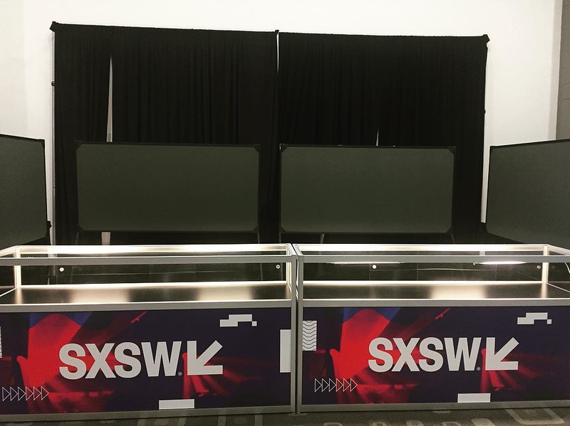 Talk about early…not a shirt, hoodie, hat or tchtchoke to be sold in sight yet! #sxsw2017 #sxsw