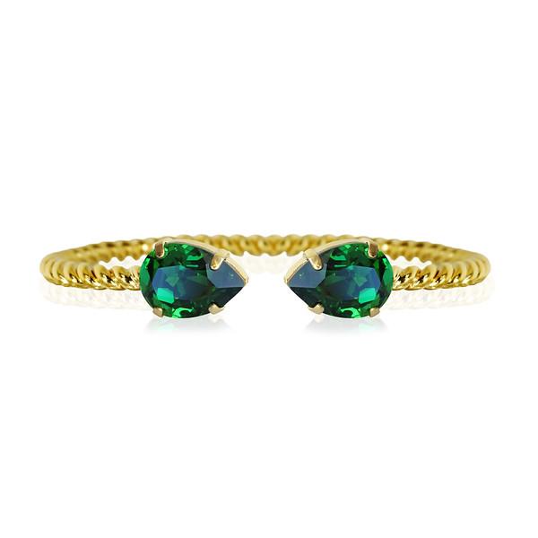 Mini Drop bracelet / Dark Moss Green / Gold