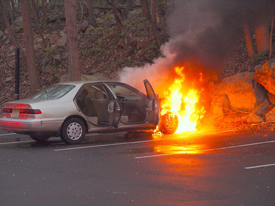 Flanders Handles Car Fire in Oakwood Village