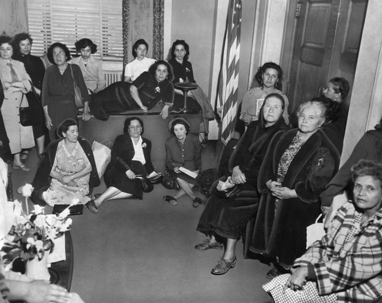 1951, Women Property Owners Protest in Mayor's Office