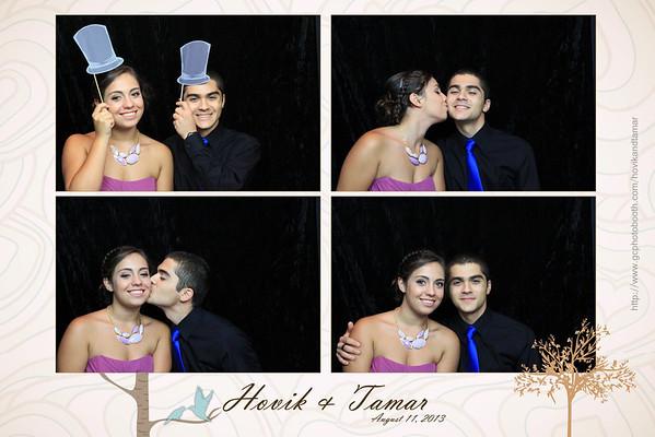 Hovik and Tamar Wedding Photo Booth Prints