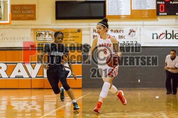 Evans Trojans @ Boone Braves Girls Varsity Basketball  -  2016