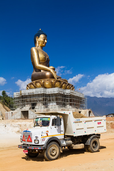 The Worlds Tallest Sitting Buddha, Thimphu, Bhutan