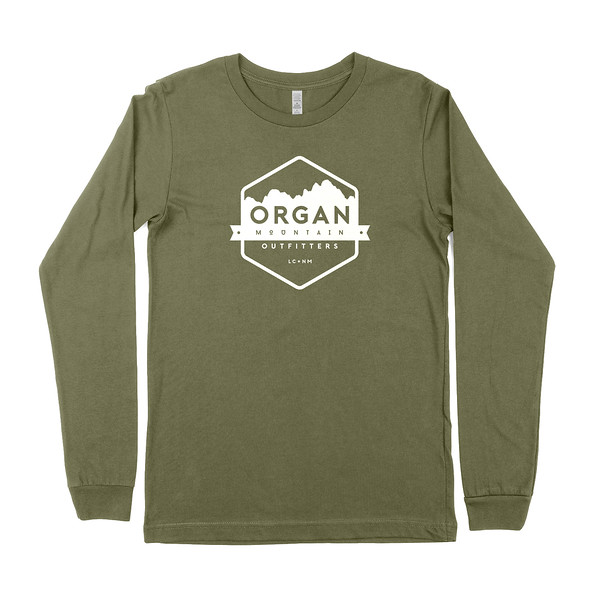 Outdoor Apparel - Organ Mountain Outfitters - Mens T-Shirt - Classic Long Sleeve Tee - Military Green.jpg
