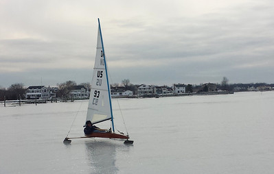 Jan .and Feb. Carl Broadbent Ice Boating