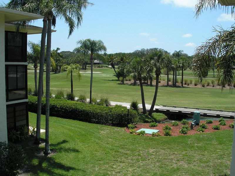 Golf course seen from our Florida Room