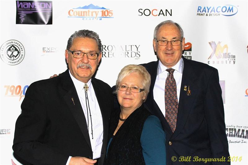 Honourable Gene Zwozdesky, Chris Nielsen, R Harlan Smith - 2014 ACMAs