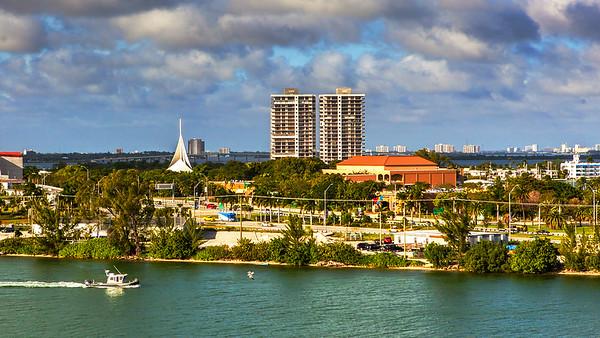 11-29-2016 游船高楼跨海大桥-迈阿密港景色