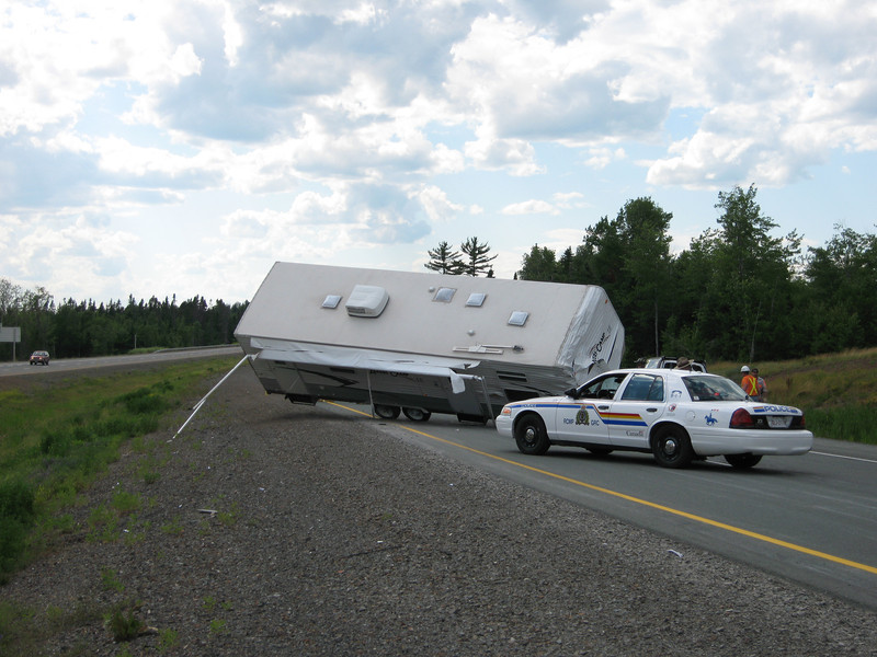 Flipped RV Trailer