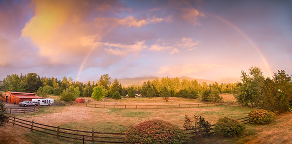 Rainbow on the farm.