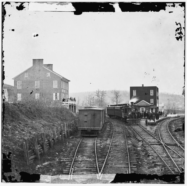 . Hanover Junction, Pa. Passenger train at depot. Photograph from the main eastern theater of the war, Gettysburg, June-July, 1863.  - Library of Congress Prints and Photographs Division Washington, D.C.
