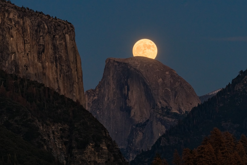 Supermoon Over Half Dome