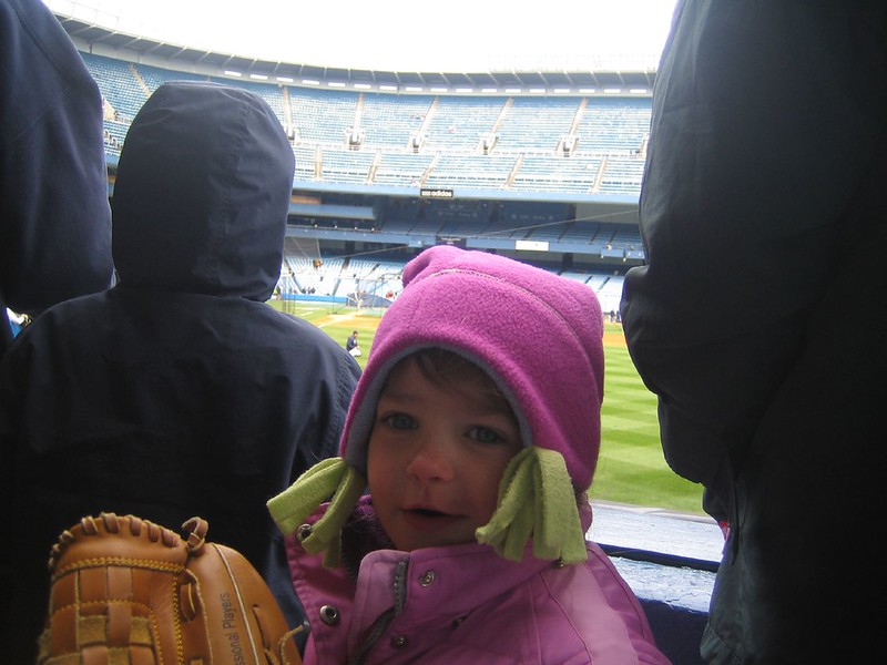 Julianna at Yankee Game 04