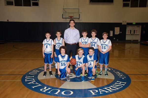 2016-17 5th Boys White Team Santucci
