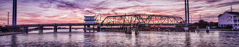 Sunset Swing Bridge Surf City (1 of 1).jpg