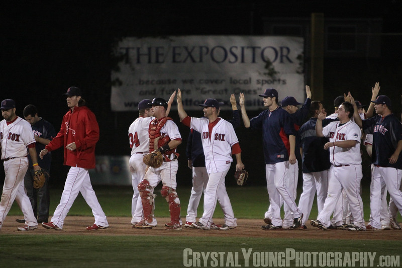 Kitchener Panthers at Brantford Red Sox IBL Playoffs, Semifinals Game 1 August 20, 2013