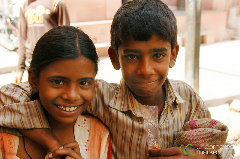 Friendly Kids on the Streets of Bikaner, India
