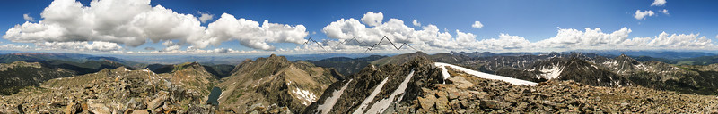 Summit Panorama from Golddust Mountain, CO