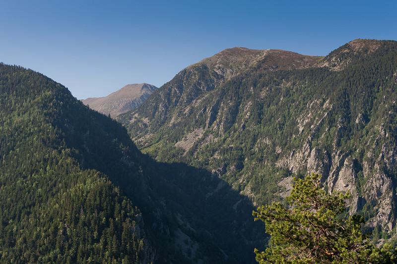 Green mountains in Andorra