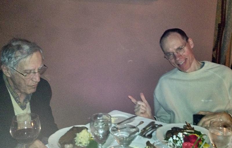Dinner with Nick, Larry Lebin, FL - at Herdic House in Williamsport PA. Nov 28 2012