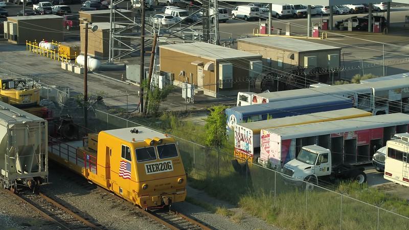 Aerial video Herzog slot train on tracks