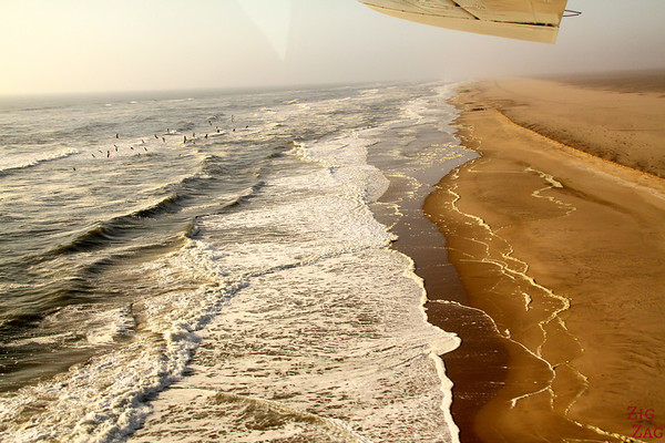Flying over the coast, Namibia