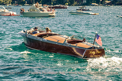 The Forty Pines motors out of harbor, 2011 Tahoe Concours D'Elegance