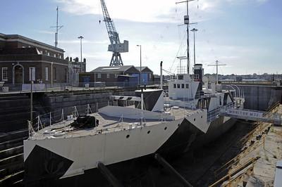 HMS M33, Portsmouth, 2007 & 2013