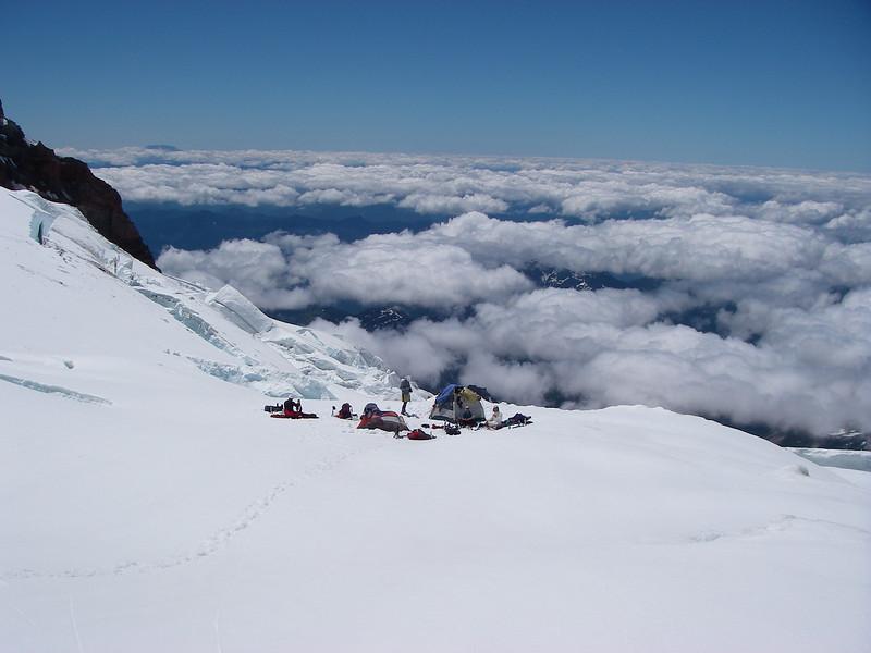 Camp 2 at 10,900ft = 3322m