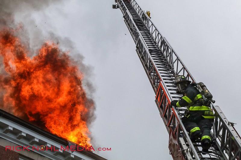 7 Alarm Apartment Fire - 62 Sanborn St, Reading, MA - 6/1/17