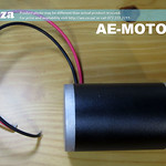 SKU: AE-MOTOR/60, 60W Brushed DC Motor, 24V 3600 RPM, 8mm Shaft Diameter