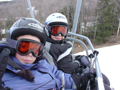 Skiing at Windham with Paul and Linda Gromadzki 3-24-2006