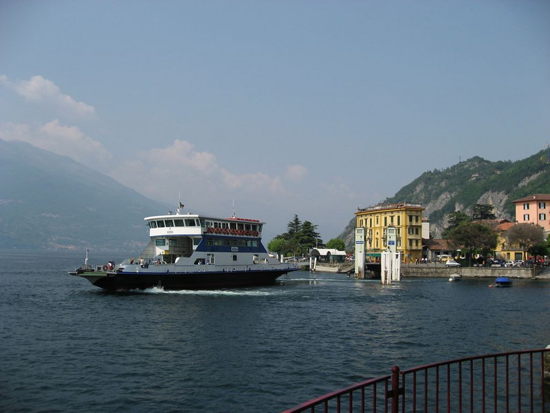 Ferry leading into Varenna