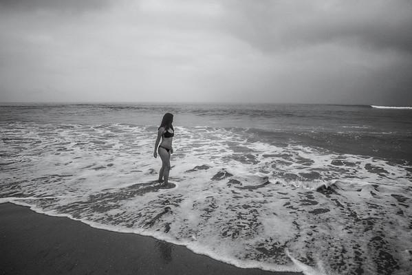 A Balck & White Beach Day