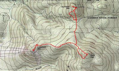Green Hills Trio: Black Cap, Cranmore and Hurricane Mtn. (August 5)