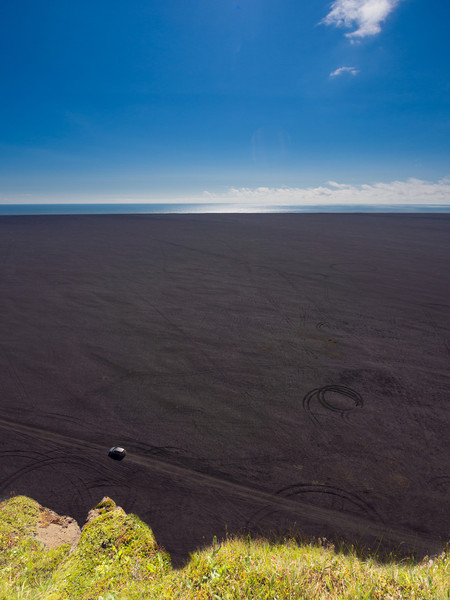 The endless black sands of eastern Iceland as seen from Hjörleifshöfði.