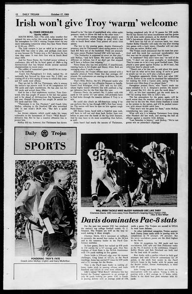 Daily Trojan, Vol. 61, No. 25, October 17, 1969