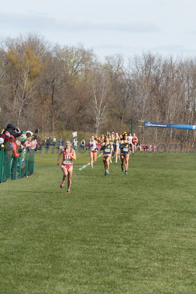 Women's Finish - 2017 NCAA D1 XC Great Lakes Regional