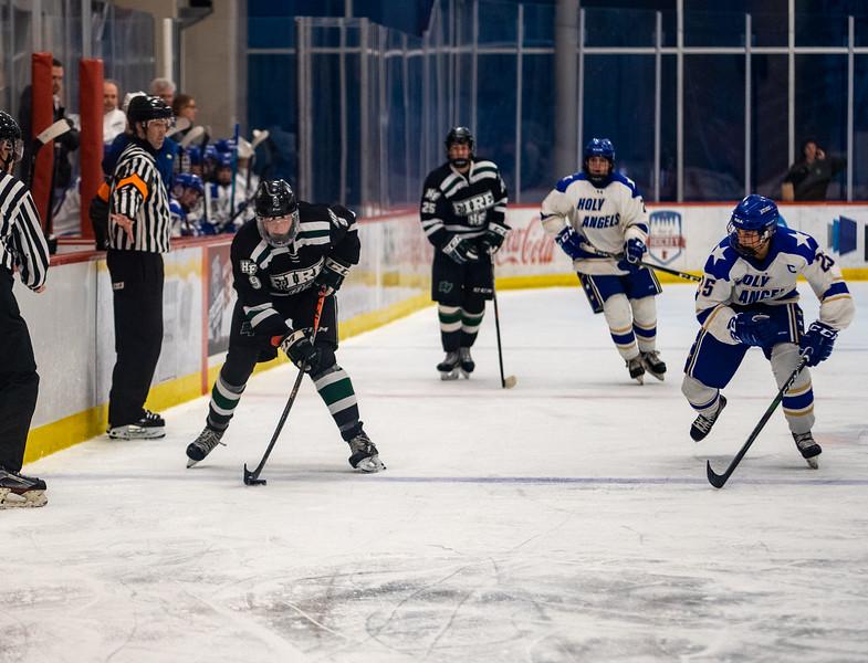 Holy Family Boys Varsity Hockey vs. Academy of Holy Angels, 12/21/19: Grant Limke '21 (9)