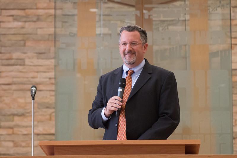 "Rabbi Greg Harris -- Rededication Ceremony of Congregation Beth El ""Bender Sanctuary"", Sept 14, 2014, following renovation."