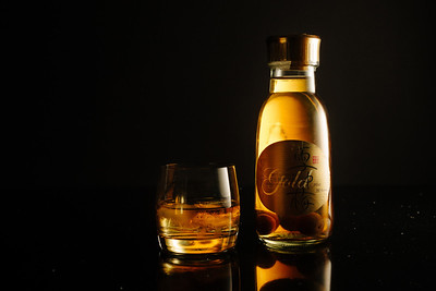 Gold Sake - Product Photography