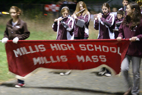 Millis Varsity Football Homecoming Half Time Parade