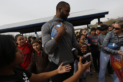 NFL Players Visit Hawkins Elementary School