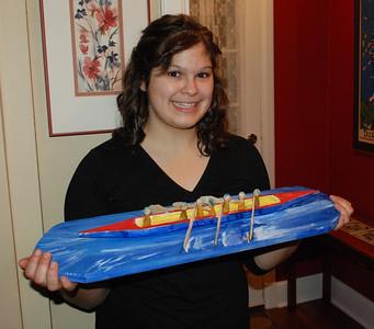 2012 04 03: Grandpa Brink & Federica, Rowing Carving