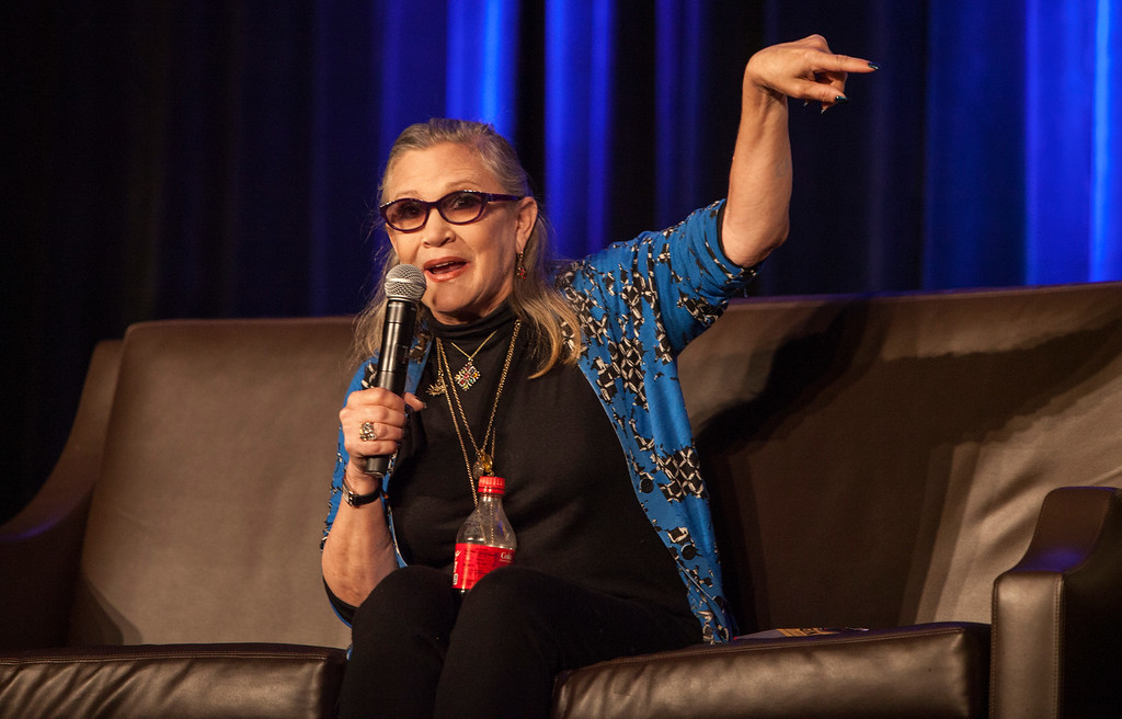 . Carrie Fisher during Wizard World Chicago Comic-Con at the Donald E. Stephens Convention Center on Sunday, Aug. 21, 2016, in Chicago. (Photo by Barry Brecheisen/Invision/AP)