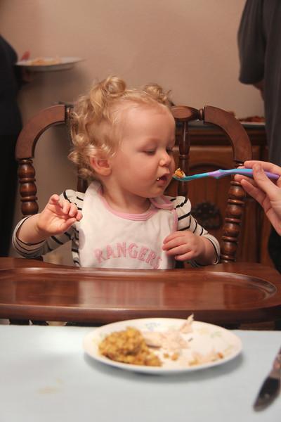 11.22.12 Teagan at Thanksgiving