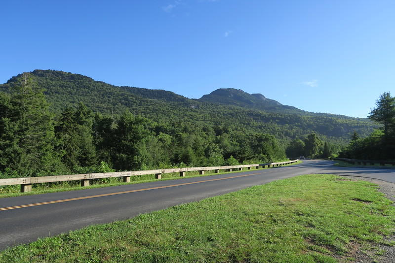 Grandfather Mountain from Blue Ridge Parkway -- 4,200'