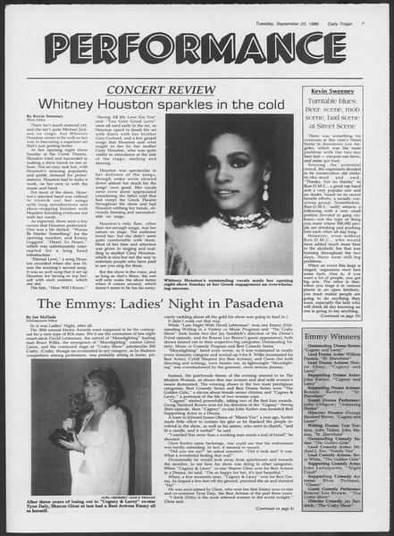 Daily Trojan, Vol. 102, No. 16, September 23, 1986