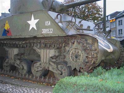 Sherman Tank - McAuliffe Square -  Bastogne, Belgium