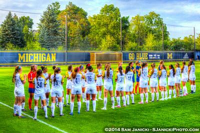 8-22-14 Michigan Women's Soccer Vs Cal State Northridge